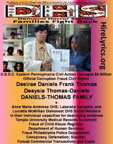 Daniels Thomas Family v DHS Commissioner Ann Ambrose Condones Lakeisha Kenyatta Lucretia McMillian Child Abuse Registry Fraud and Terror Threats (1983 Civil Rights Act Immunity Language Abuse, 4) PDF