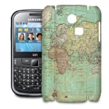 Phone Case For Samsung Ch@t 335 - Antique World Map Hard Cover