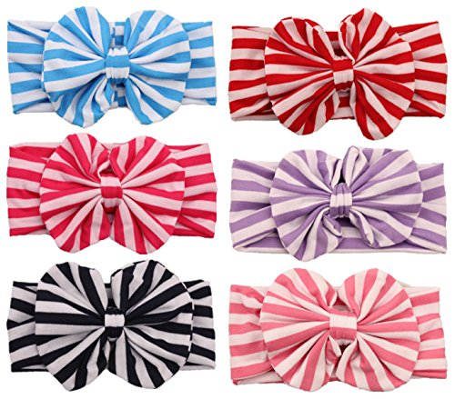 Qandsweet Baby Girl Headbands with Hair Bow