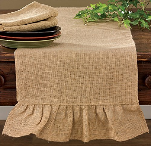 """Shabby Country Jute Burlap Table Runner Kitchen Home Décor Accent 60"""""""