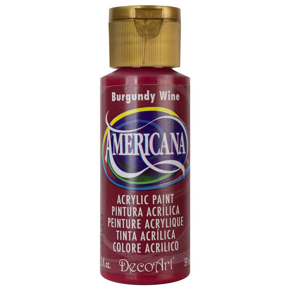Burgundy Acrylic High Gloss: DecoArt Americana Acrylic Paint - Burgundy Wine