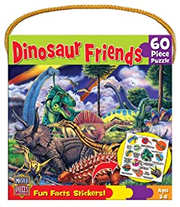 Dinosaur Friends 60 pc Fun Facts with Stickers
