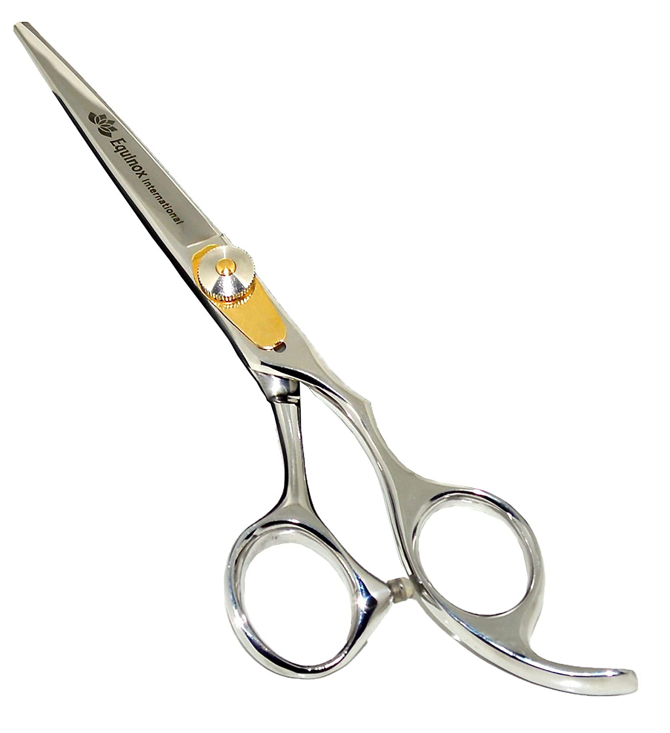 "Equinox Professional Razor Edge Series - Barber Hair Cutting Scissors/Shears - 6.5"" Overall Length with Fine Adjustment Tension Screw - Japanese Stainless Steel - Lifetime Guarantee"