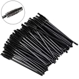 yueton Pack of 100 Disposable Eyelash Brushes Wands Mascara Applicator