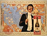 """CANVAS Fashion Couple Champagne Wine Codorniu Flowers Girls Dancing Spain 24"""" X 30"""" Inches Image Size Poster Reproduction on Canvas. More Sizes Available!!"""