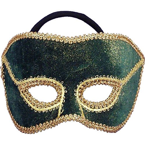 Men's Teal Venetian Mardi Gras Mask