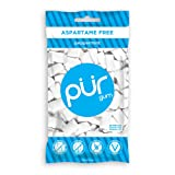 PUR Gum, Peppermint, 55 pieces - Aspartame Free, Sugar Free, 100% Xylitol, Natural Chewing Gum, Non GMO, Vegan