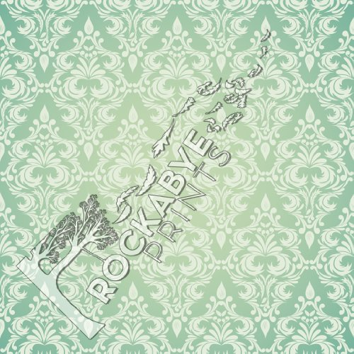 Photography Backdrop / Floordrop - 5Ft X 5Ft Sage Damask - Durable Vinyl Backgroud front-975683