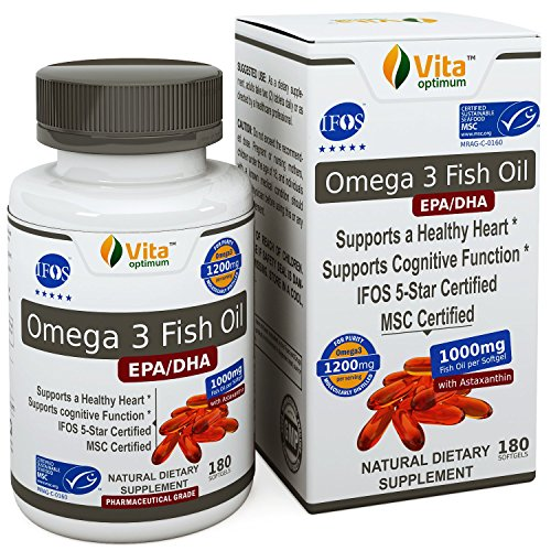 Omega 3 Fish Oil Pills (180 Count Softgels) - Ifos & Msc Certified From Deep Alaska Ocean - Best Quality Burpless Capsules - 600Mg Epa & Dha - Pharmaceutical Grade & Molecularly Distilled For Purity