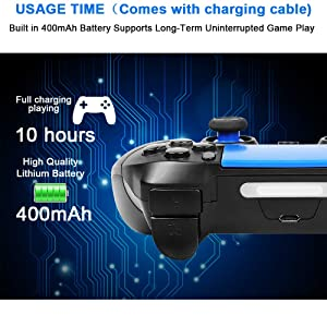 Mobile Game Controller, PowerLead PG8718 Wireless 4.0 Game Controller Compatible with iOS Android iPhone iPad Samsung Galaxy (Color: Blue)