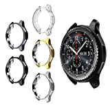 5 Pack Case for Samsung Gear S3 Frontier SM-R760, MIMEI Soft TPU Plated Protective Bumper Shell Protector for S3 Classic SM-R770N & Galaxy 46mm SM-R800 Smartwatch Accessories (AS Show, 8 X 8 X 4 cm) (Color: AS show, Tamaño: 8 X 8 X 4 CM)