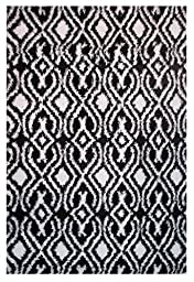 LA Rug Touch Two Tone Geometric Area Rug (2 by 8 Foot) 357-18