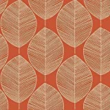 Arthouse Opera Retro Leaf Pattern Leaves Motif Designer Wallpaper (Amber 408208)
