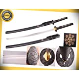 Full Tang 1045 High Carbon Steel Handmade Tomoe Japanese Katana Sword New perfect for cosplay outdoor camping