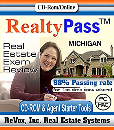 2016 Michigan Realty Pass Real Estate Exam Prep Study Guide Questions and Answers Interactive Software