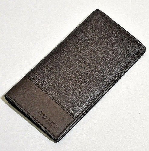 Coach   Coach Men's Camden Pebbled Leather Breast Pocket Wallet