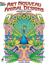 Art Nouveau Animal Designs Coloring Book (Dover Coloring Books)