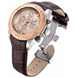 Invicta Reserve 47mm Pro Diver Swiss Made Sellita SW500 Automatic Chronograph Leather Strap Watch - 18917