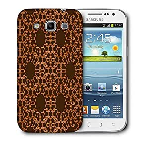 Snoogg Abstract Brown And Yellow Printed Protective Phone Back Case Cover For Samsung Galaxy Samsung Galaxy Win I8550 / S IIIIII