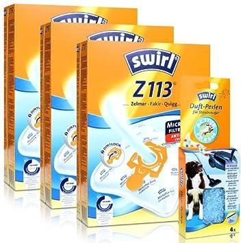 4 Staubsaugerbeutel Swirl geeignet für Miele Complete C3 Cat
