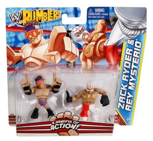 Imagen de Rumblers WWE Zack Ryder y Rey Mysterio Figura 2-Pack