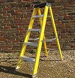 5 TREAD Heavy Duty Fibreglass Step Ladder | Electricians GRP Step Ladder 30,000v