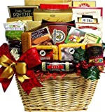 Art of Appreciation Gift Baskets   Holiday Traditions Gourmet Food Christmas Basket with Smoked Salmon