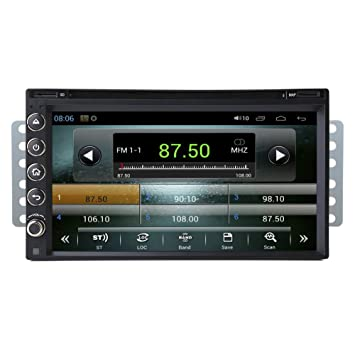 Rupse - Android 4.4.2 Autoradio DVD GPS Système de Navigation Lecteur DVD Voiture avec 6.95 pouces Ecran Tactile HD Capacitif Double Din Bluetooth / SD / USB / iPod / DVB-T / AM / FM / AV-IN / Wifi / DVR