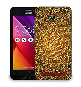 Snoogg Gold wave 2441 Designer Protective Back Case Cover For Asus Zenfone GO