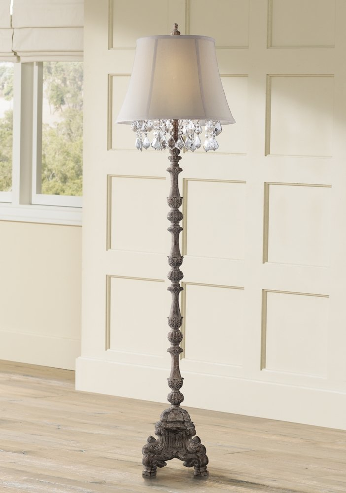 Duval French Crystal Candlestick Floor Lamp 2
