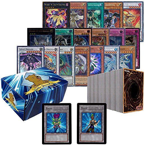 500-Random-YuGiOh-Card-Lot-Rarity-Collection-Supers-Ultras-Rares-Comes-With-YuGiOh-Playmat-Includes-Custom-Golden-Groundhog-Storage-Box-and-2-Golden-Groundhog-Tokens