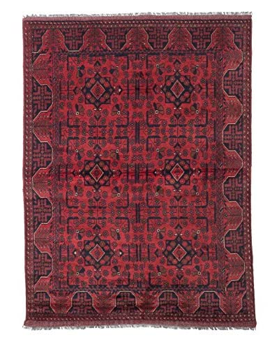 eCarpet Gallery One-of-a-Kind Hand-Knotted Khal Mohammadi Rug, Black/Red, 4' 11 x 6' 7