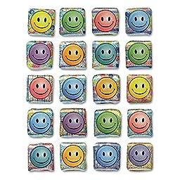 Creativity Street 1648 Peel & Stick Gemstone Stickers, Smiley Face, 20/Pack (CKC1648)