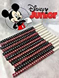 Disney Mickey Mouse Inspired Specialty Bling Cake Pop Sticks - Red & Black Glam for Lollipops, Cake Pops and All Things Party - Bling Sticks 6 15.2 Cm - 12 Ct Set
