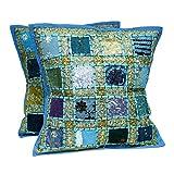 "Craft Store Cotton Hand Made Cusion,Cushion Cover Size-16"" 5cs Set - B00LL41SAK"