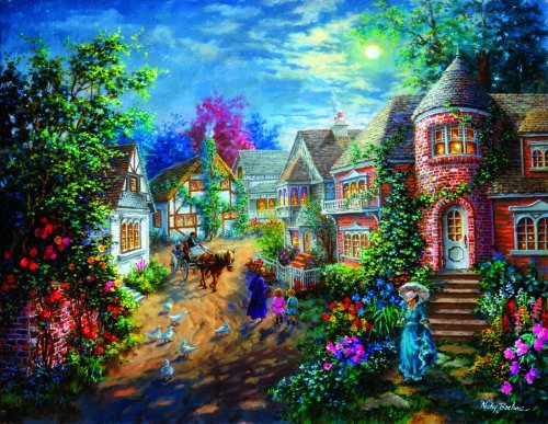 Cheap SunsOut Moonlight Splendor 1000+pc Jigsaw Puzzle by Nicky Boehme (B004HSFQ96)