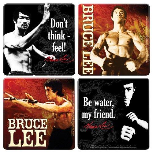 Bruce Lee(ブルース・リー)ウッドコースター4個セット