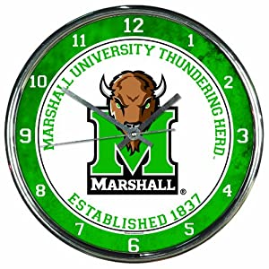 Buy NCAA Marshall Thundering Herd Chrome Clock by WinCraft