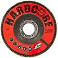"CoreTemp 87440 Type 27 High Density Abrasive Flap Disc with Fiberglass Backing, Zirconium, 4-1/2"" Diameter, 7/8"" Arbor, 40 Grit  (Pack of 5)"