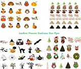 80 Holiday Nail Art Decals (Christmas, Halloween & Thanksgiving)