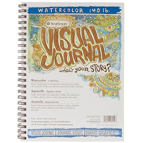 Strathmore 400 Series Visual Watercolor Journal, 140 LB 9x12 Cold Press, Wire Bound, 22 Sheets [+Peso($44.00 c/100gr)] (US.AZ.18.7-0-B007SQ2SVI.387)