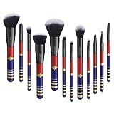 Docolor 12Pcs Makeup Brushes Starlight Goddess Makeup Brushes Set Foundation Blending Eyeshadow Kit (Tamaño: 12 Pieces)