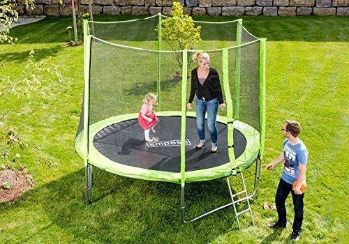 Outdoor Trampolin Gartentrampolin inklusive Sicherheitsnetz Leiter 366 cm 12 ft GRÜN jetzt kaufen