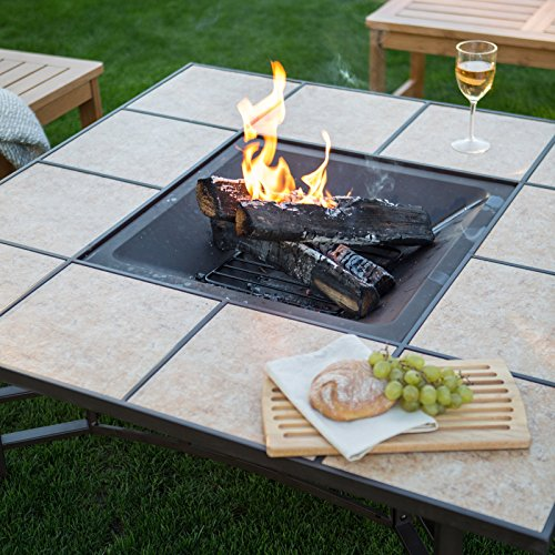 Red Ember Wheatland 50 in. Outdoor Square Tile Convertible ...