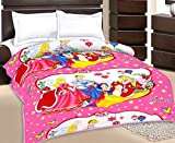 Shrinath Handloom Princess Cartoon Character Kids Single Bed Reversible AC Dohar/Blanket