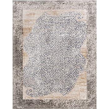Serenade Merola Blue & Beige Animal Print Area Rug 5 x 7 (53