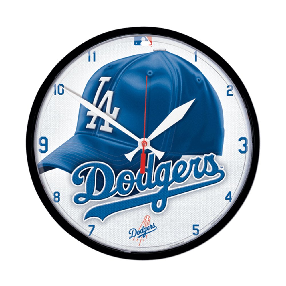 Wincraft WIN-2904912 Los Angeles Dodgers MLB Round Wall Clock wincraft win 2904912 los angeles dodgers mlb round wall clock