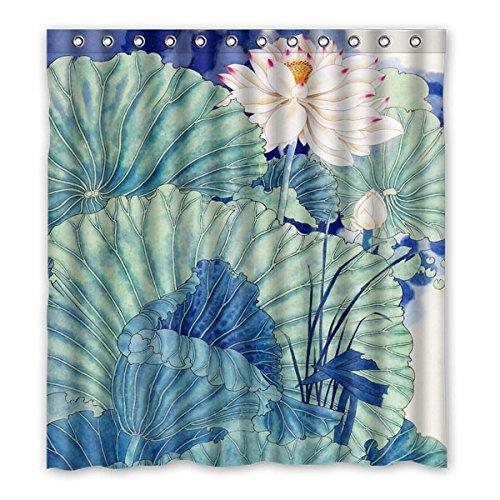 """167 cm x 183 cm (x66 """"x72"""") cortina di Bagno Doccia, Beautiful Lotus acquerello classica elegante e alla moda Home Life personalizzato Tenda della doccia"""