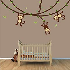Baby Nursery / Kid Room Wall Decals (Monkey Owl Tree etc designs to choose from)