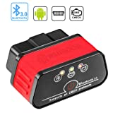 wsiiroon Bluetooth OBD2 Scanner OBD 2 OBDII Car Diagnostic Scan Tool Auto OBD Scanner Code Reader for Android and Windows, Supports Torque App (Color: OBD Bluetooth)